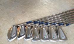 Ladies Tommy Armour Butterfly Irons - right handed, 3 thru 9 - like new!