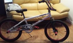 Tony Hawk bmx bicycle. Has been riden, yet very good condition. hand brakes, free wheel, pegs front and rear.