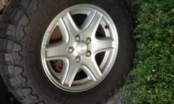 4 toyo open country tires size LT 245/75/R16, almost brand new.
