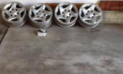 Four Toyota tacoma rims for 250.00 for all four, they are in excellent condition and they are for a sixteen inch tire, there will be a photo of them on Facebook under the name of Robert T. Aaron. If you are interested please contact my sister at