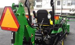 """You name it I can get it done for you and will beat any other written estimate. Mowing (Min 1 acre) 60"""" I have a regular sized John Deere riding mower for smaller lots. Tractor included mowing deck high power and fast diesel engine from John Deere, Back"""