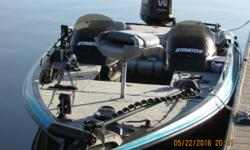 Looking to Trade for Harley or Custom Bike This boat is in excellent mechanical condition. Everything works 1995 pro Stratos , Pics were taken on 5-23-16. Boat has been maintained by kokomo Marine Johnson 150 v6 fast strike, I had this boat at 65 mph