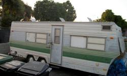 trailer for sale year 76 model nomad 27' long x 8' wide kitchen bathroom living room and bedroom is in good condition and good price $2900 call (818)640-0439 home (323)587-6218