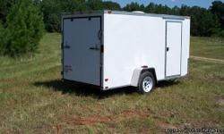 6x14 Enclosed Cargo Trailer ? w/V-nose,Single 3500# Axle. . Includes ¾ Plywood Floors, 3/8 Plywood Walls, Side Entry Door, Roof Vent, 12 V Interior Dome Light, Rear Ramp Door, ATP Stone Guard; Please call 470-375-1709 us with any questions!