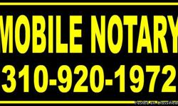 Call or Text 310-920-1972 24 Hour Mobile Notary & Loan Doc Signing Service Since 2001 * Serving 110 Cities in and Around Los Angeles County* Document Signing Fees Travel fee plus $10 per signature notarized $30 Travel Fee (First 30 Miles) $40 Travel Fee