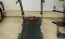 Reebock Crosswalk V7.90 treadmill in great condition for sale. Electric incline, user's manual, cushioned ramp and program disks. Heavy duty and sturdy.