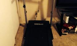 Weslo 6 speed treadmill only used twice brand new.