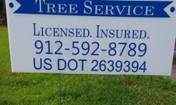 Tree service n clean up license n insured