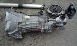 Tremec T-56  6-spd (double overdrive)transmission from '87 Camaro. Complete assy. bellhousing, clutch and flywheel, driveline, and shifter. Excellent condition Less than 5000 miles