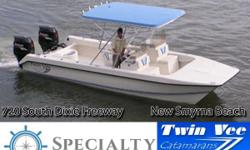 Whether fishing or cruising, Twin Vee boats are best described as without peer in ride and comfort in any conditions. Built with a unique sharp-entry bow design and full-keel tracking pads, Twin Vee Catamarans feature positive floatation foam-filled
