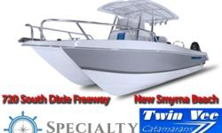 If you are looking for a good looking, great riding, well built boat backed by the factory, look no further than Twinvee Powercats. You will not be disappointed! Twin Vee Catamarans feature positive floatation foam-filled hulls and arethe only