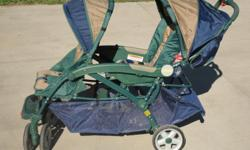 Like new 2 passenger jeep stroller, easy to fold and transport. Call --