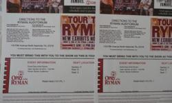 I purchased these tickets and will not be able to use them. They are main floor three rows back in the center, so VERY GOOD SEATS The Tickets are for November 24, 2012 @ 7:00pm - Section 5, Row D, Seats 1 & 2 I paid $110.00 for both and will sell