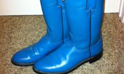 Unique Vintage Roper Style Turquoise boots, wonderful condition. Size 6 1/2 Wont see boots like these elsewhere. DIAMOND J Brand
