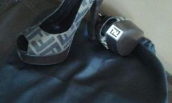 Sexy Fendi women pumps, peeptoe, slingback, Zucca heels. Contact Patricia 347-432-4233 or pbaveghems@yahoo.com...pics attached