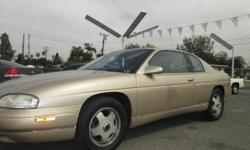 Come and see this Chevy Monte Carlo it is a one owner vehicle. The Monte Carlo known for being a reliable vehicle and it's good for the daily driver, complete with power windows, door locks, and a power driver seat. Rear Spoiler - 3.8 Liter V6 - Leather