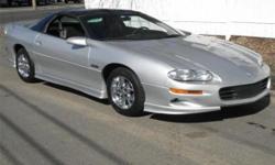 Make: Chevrolet Model: Camaro Year: 2002 Body Style: Convertible Exterior Color: Silver Interior Color: Black Doors: Two Door Vehicle Condition: Excellent  Price: $18,000 Mileage:21,331 mi Fuel: Gasoline Engine: 8 Cylinder
