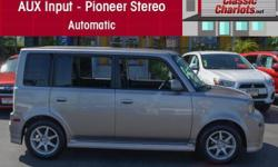 1 Owner Clean carFax Report ? Nice Alloy Wheels ? Automatic ? Pioneer Stereo ? MP3 ? Power Windows ? Serviced and ready to use and enjoy! Come test drive this excellent used 2006 Scion xB  at Classic Chariots today! Just ask for Stock #