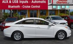 1 Owner CLEAN CarFax ? Climate Control ? Bluetooth ? AUX & USB Audio Inputs ? Power Windows ? Power Door Locks ? Serviced and ready to use and enjoy! Come test drive this excellent used 2012 Hyundai Sonata GLS at Classic Chariots today!Just