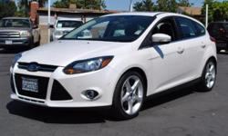"""Very nice 2012 Ford Focus Titanium in """"White Platinum Metallic Tri-Coat"""", Very clean and has been well maintained. Only 1 previous owner with a clean CarFax history report. Loaded with many features from the factory, Moon roof, Power windows, Power"""