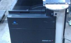 Greeting All! Here we have a Konica Minolta Bizhub C451 that is fully tested for functionality and appearance. Konica Bizhub C451 is a professional quality color printer copier that will revolutionize your workflow. You can count on Konica Minolta to help