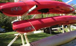 """2014 Used Perception """"Tribe"""" sit on top kayak. 12 ft. Was used in canoe/kayak livery for only one season. Great condition."""