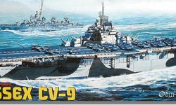 """1:700 Scale Sea Power Series. Mint in the package and still factory sealed. Option of either a waterline version or a full Hull version with presentation stand. Superbly detailed anti-aircraft guns including 5"""" inch .38 USS Essex Partscaliber single"""