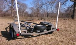 18'-20' single axle v bottom boat trailer 1945. tandem axle 2245. 21' 2445. 22' -24' with electric brake 2845. larger also available to build please call for details and ordering extras on v bottoms. wind guides 75. led lights for 24' down 50. retractable