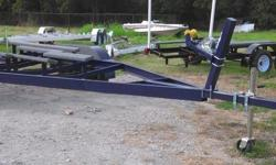 18'-20' single axle 1945. tandem axle 2245. 21' 2445. 22'-24' with electric brake 2845. larger available to built ... please call with weight of boat to get the right price.   extras ... spare 125. fender skirts 285. led light for 24' down