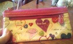 "Love/Romantic Women's Wallet In excellent shape 7"" x 3 1/2"" closed open 7"" x 7"""