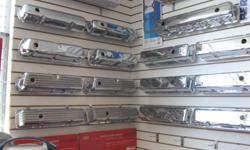 We have chrome valve covers for $34.99. We are a performance parts store if we do not have it we can get it 'usually' next business day. We have SBC/BBC Starters for 129.95 Chevy 110 amp Alternator for 89.95 Our Chrome Valve covers start at 34.99 SBC/BBC