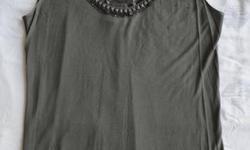 Originally $50 +/- Vera Wang sheer top, slate gray, cotton/rayon. Size M Will negotiate.