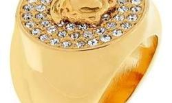 CADENZZA - This Iconic Ring Versace crowns the cocktail hour with your girlfriends with shimmering glitz and glamor of Hollywood . Medusa , the iconic Versace logo shines with crystals from Swarovski ® and give your winter wardrobe a touch of luxury.