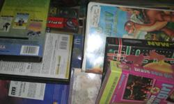 Whole box of VHS tapes asking $20.00 or best offer. Adult and children movies. Call --.