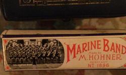 "vintage Marine Band M Hohner ""G"" harmonica"