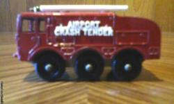 Vintage Matchbox/Lesney Foamite Crash Tender in excellent condition. i also have more like this. For more info please call 1-207-337-0443. Thank You.