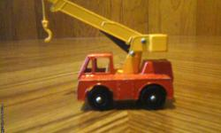 Vintage Matchbox/Lesney Iron Fairy Crane in excellent condition. I have others like this from the mid to late 60's. For more info please call 1-207-337 0443. Thank You.