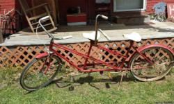 Nice old original bicycle,can ride and drive,but may need new tires later on..