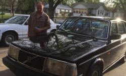 1988 240 DL Volvo black 209,000 miles Runs good .Clean .Back door on passenger side won't open and driver's window hard to roll up & down. Air conditioner works but needs freon in it. Call 316-831-9465