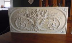 "Foam-injected piece, ideal for hanging above a fireplace, bedroom, office, etc.... Originally made by Ballard Designs ($ 250), this piece measures 53"" by 24"". Double back mounts make this ready to hang. $50; OBO (neg.), cash only, please. Buyer assumes"