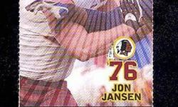 """From Fed Ex Field 12/18/2005 is the ticket stub featuring Jon Jansen on the front in the Redskins biggest win over Dallas with a 35-7 win. From the raucous pregame chants of """"We Want Dallas"""" to the seven sacks, four turnovers and four touchdown passes,"""