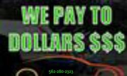 Truck!FREE Pick-up and Tow!/Compramos Hondas,Toyotas,Bmw,Mercedes,Acuras,lexus,PK, Si camina y es buen Ano te mejoramos el precio ? Servicio rapido Con o Sin papeles Todas las Areas 5622700505