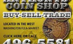 We Buy, Sell & trade old coins and currency in indianapolis Just give us a call at 317-496-5581 or visit us at www.anthonyscoinshop.com We have several locations to serve you, we make house calls and even offer phone quotes.