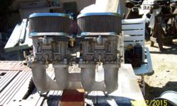 Pair of genuine european-made in spain 44IDF-71 carbs & air cleaners.Like new. Manifold not included. 760-363-6169