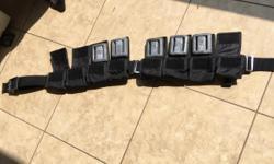 Weight belt (like new used twice) 8 pocket adj. w/5 three pound weights. $120 retail asking $85 call 907-240-6572