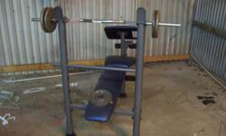 Adjustable bench. Bench is in good shape not much weights. All you see in pic