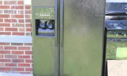 I have a whirlpool fridge and stove that are 8 month old. the fridge is a side by side with ice and water in the door. the stove has a broken handle on the front, but can be replaced. they are both black with electronic key pads.