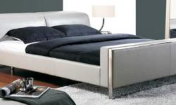 Imported Italian 100% Leather Platform Bed With adjustable Headrest. There is only 1 queensize headboard left. (1) California King size Platform Bed with adjustable headrest in Espresso Also available. For more information ask for Jewels () -