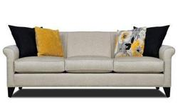 WHITE SOFA - BRAND NEW, BUT IS MISSING ONE CUSHION \  IN THE PICTURE YOU CAN SEE ALL DIMENSIONS (DON';T KNOW WHAT MOVERS DID0 IT NEVER ARRIVED  IF INTERESTED CALL --
