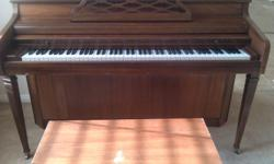 I'm selling my Whitney Piano for $295. It's in EXCELLENT condition and looks and plays like a brand new piano. I'm in a hurry to sell it as I'm moving and can't take it with me. Call me ASAP. I'd like to have it sold today. My number: (281)-250-6325 Thank
